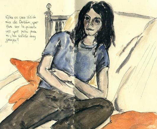 Debbie en el sofa