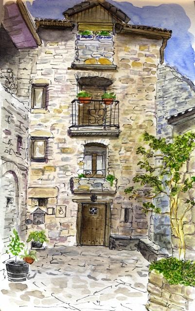 Acuarela casas de pueblo r sticas las cosas que me hacen - Casas en pueblos ...