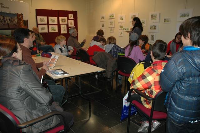 Workshop de acuarelas en el Ayuntamiento de Aínsa